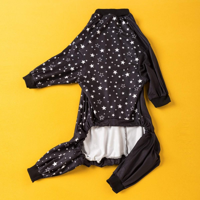 LovinPet Big Dog Pajamas, Cozy Stars in The Night Dog Pajamas, Slim fit, Lightweight Pullover Pajamas/Full Coverage Dog pjs/Please Reese Size Chart Before Ordering
