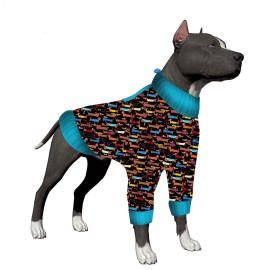 LovinPet Big Dog Pajamas/Cozy Dachshunds Dog Shirt/Pullover Dog Pajamas/Full Belly Coverage/for Big Dogs/Pitbull Shirt