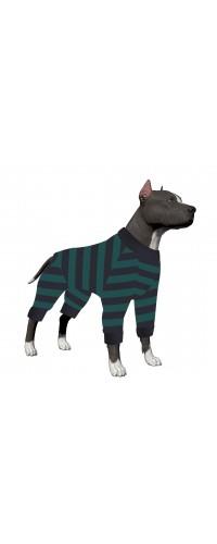 LovinPet Dog Onsies for Large Dogs Wide Stripe Shirt/4-Legs Design/Full Body Coverage Protection/for Big Dogs/Pitbull Shirt/Bulldog Pajamas/Boxer Pajamas