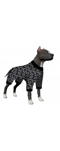 LovinPet Pit Bull Pajamas, Lightweight Pullover Pajamas, Full Coverage Dog pjs, Dot & Beautiful Flower Print Dog Pajamas