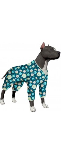 LovinPet Dog Pajamas for Women Big Dogs/Sea Buddies Jellyfish and Starfish Deep Ocean Prints/Lightweight Pullover Large Puppy Pajamas/Full Coverage Dog Pjs/Large Dog Jamammies